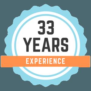 33 years logo